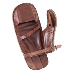 Full contact leather glove, right hand