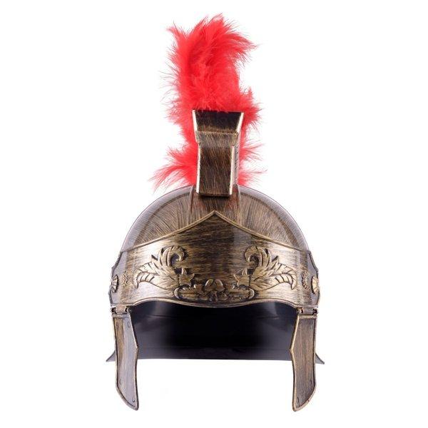 Romersk legetøj hjelm med rød kam