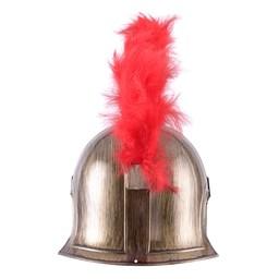 Romeinse speelgoedhelm met rode helmkam
