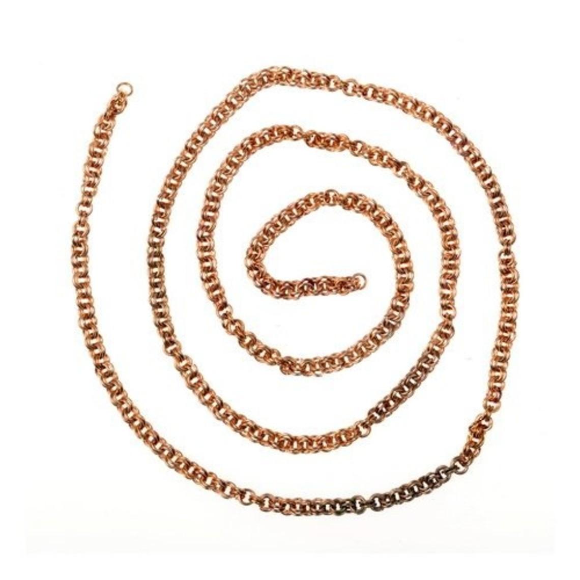 De Viking cadena de enlace doble, plateado, por cm