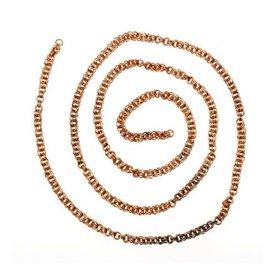 Viking doppia catena a maglia, argentato, per cm