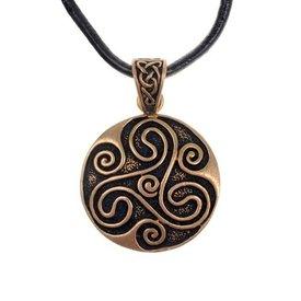Amuleto trisquelion celta, bronce