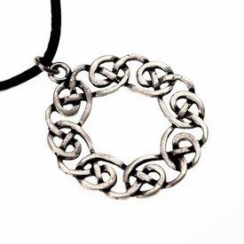 Amulet Keltische krans, verzilverd