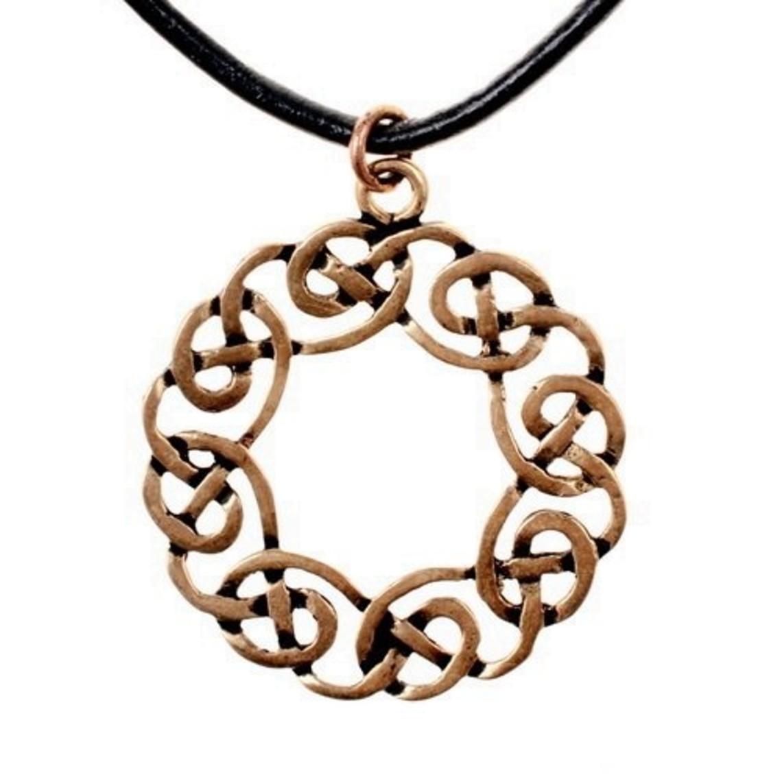 Amulette couronne celtique, bronze