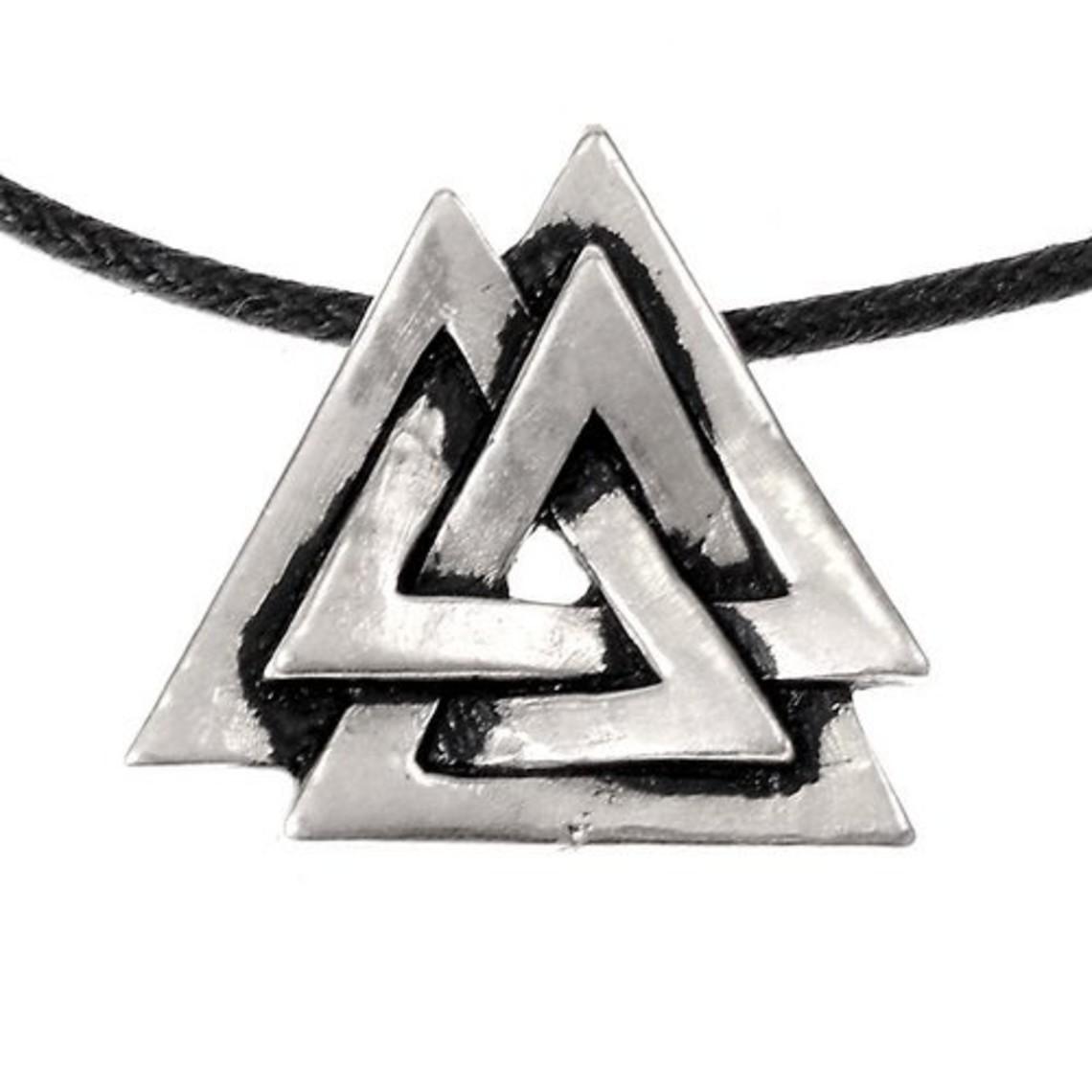 amuleto valknut, plateado