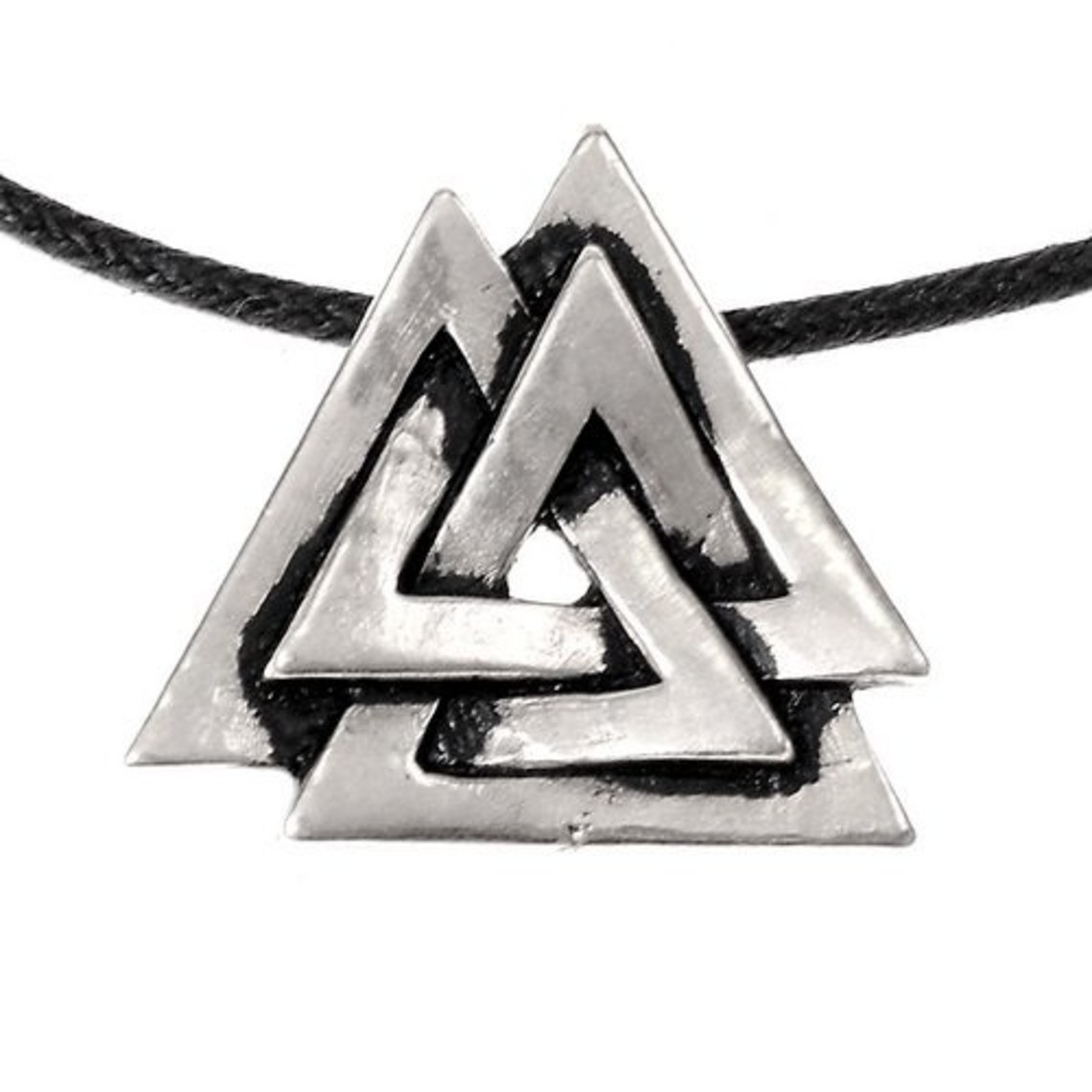 Valknut amulet, verzilverd