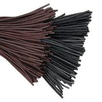 50x nappalæder indsnævre rektangulært stykke for skala rustning, mørkebrun