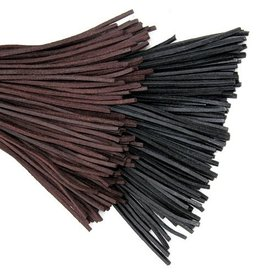 Læder blonder brun, 100 cm