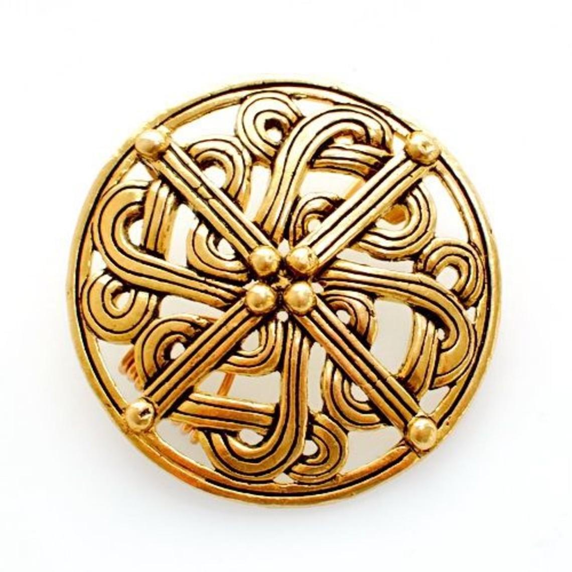 10. århundrede Viking broche