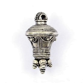 Germanic berlock pendant, silvered