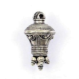 Germanisk berlock-hänge, silverförsedd
