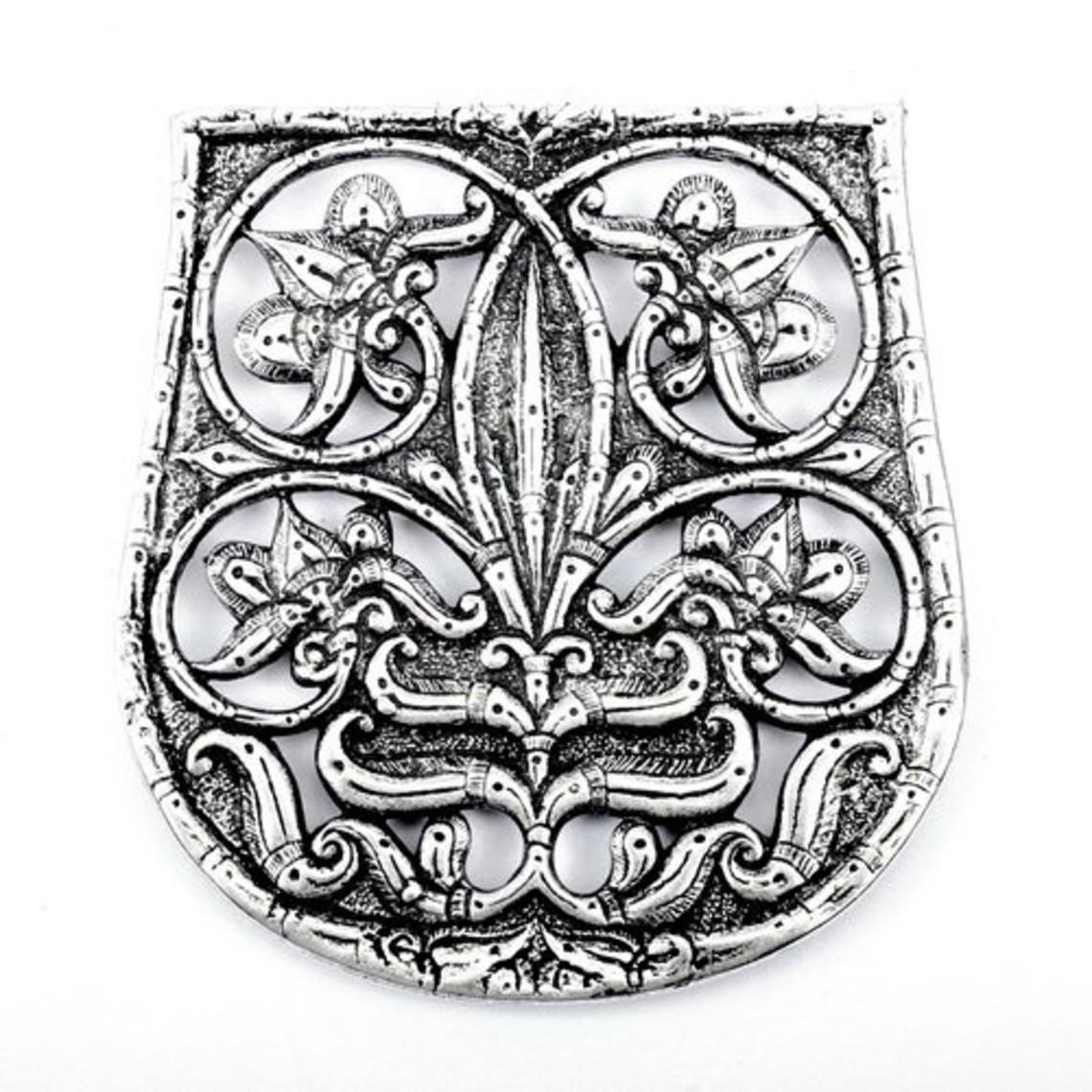 10th century bag decoration Karos-Eperjesszög, silvered