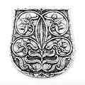 10 de la decoración de la bolsa siglo Karos-Eperjesszög, plateado