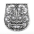 10de eeuwse tasdecoratiee Karos-Eperjesszög, verzilverd