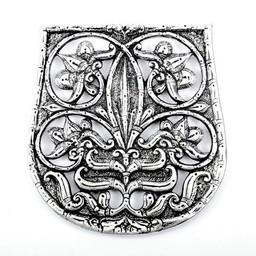 10. Jahrhundert Beuteldekoration Karos-Eperjesszög, versilbert