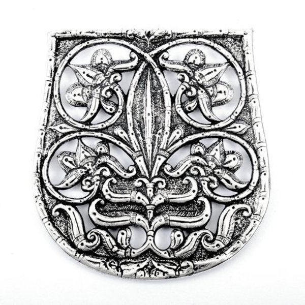 10th century bag decoration Karos-Eperjesszög, silvered