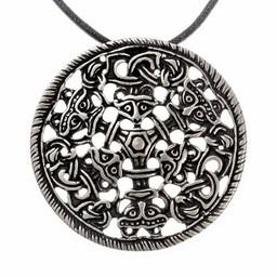 Viking amulet Bjølstad, silvered
