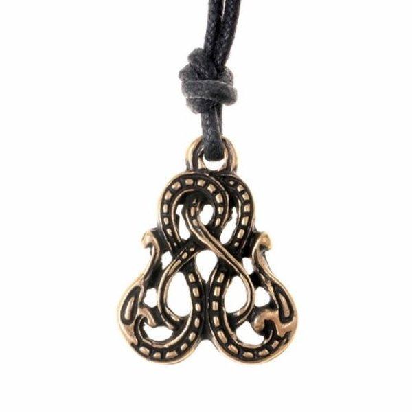 Viking amulet Midgård slange, forsølvede