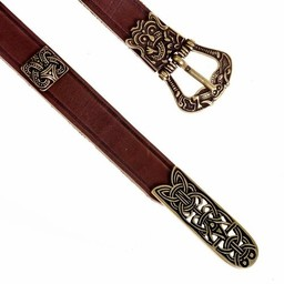 Birka deluxe cinturón, marrón, plateado