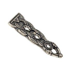 Birka belt end Borre style, silvered