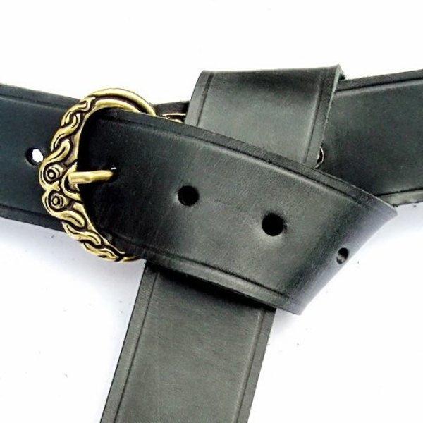 Borre ceinture de Viking, noir, argenté