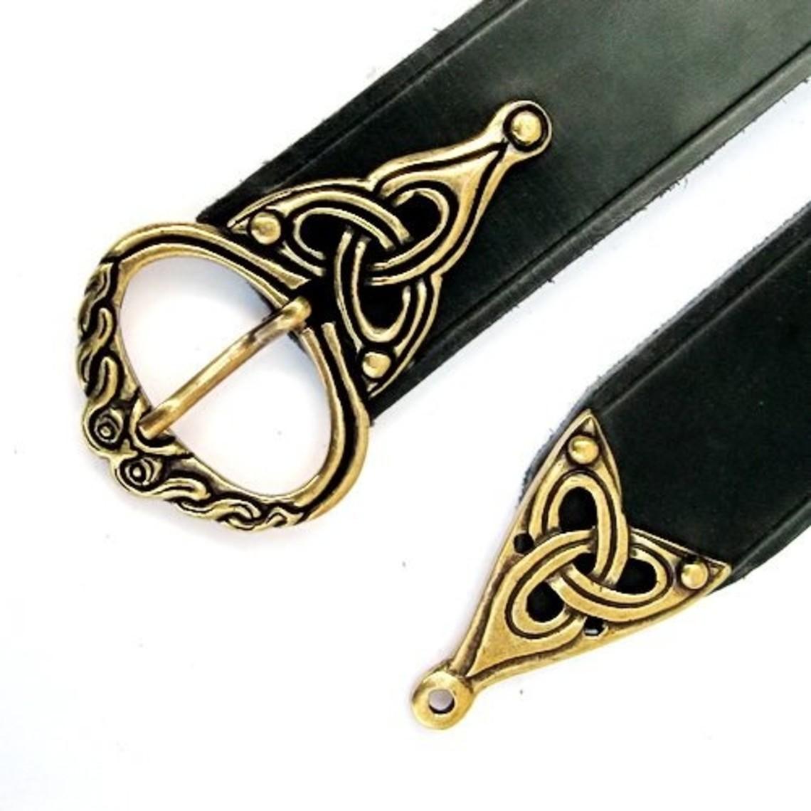 Borre ceinture de Viking, noir, bronze