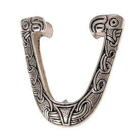 Chape para Viking vaina de espada, Haithabu, plateado