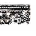 Anglosaxiska skidan passande, försilvrad