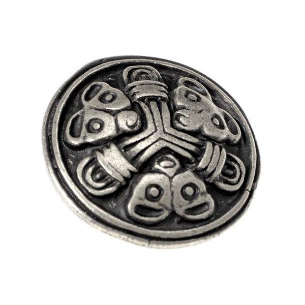 Viking bælte montering Borre sæt af 5 stk, forsølvede