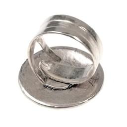 Birka Viking Ring Borre Stil, versilbert