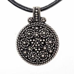 Birka amulett grav 943, försilvrade