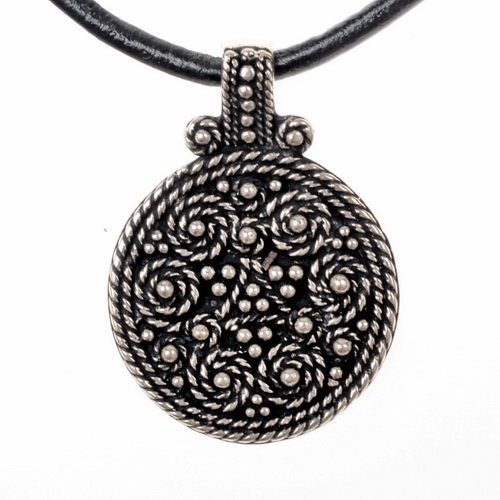 Birka amulet graf 943, verzilverd