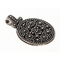 Birka amulet grave 943, silvered