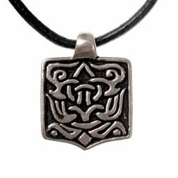 Arabic Viking jewel, silvered