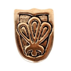 Viking belt tongue Birka, silvered