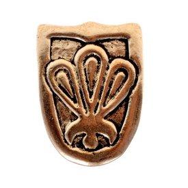Viking język pas Birka, posrebrzane