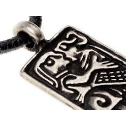 6-ty miłość amulet wiek, posrebrzane