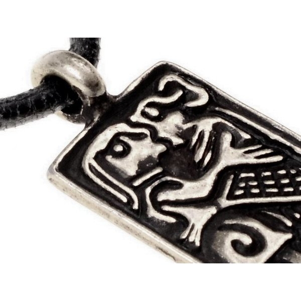 6th century love amulet, silvered