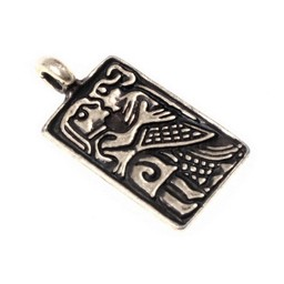 6. Jahrhundert Liebe Amulett, versilbert