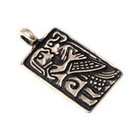 6: e århundradet kärlek amulett, försilvrade