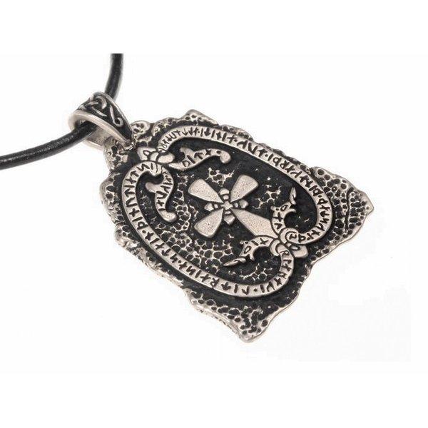 Jarlabanki Rune stone jewel, silvered
