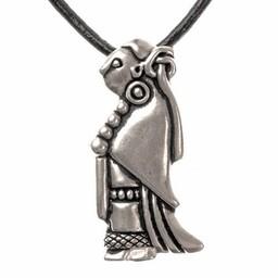 Viking jewel Valkyrjar, silvered