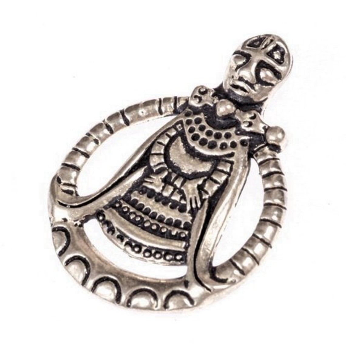Vikingamulet Freya, verzilverd