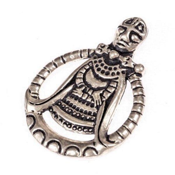 Viking amulet Freya, forsølvede