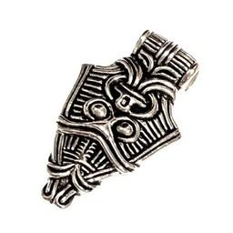 Viking mask jewel Uppåkra, silvered