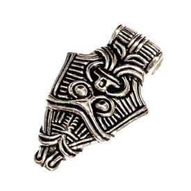 Viking maschera gioiello Uppåkra, argentato