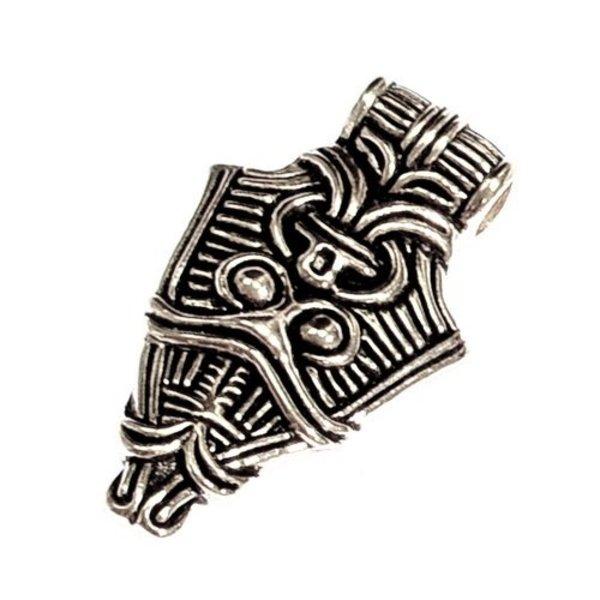 Viking maske juvel Uppåkra, forsølvede