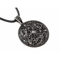 Oseberg Viking amulet, silvered
