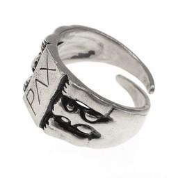 Peace średniowieczny pierścień, posrebrzane