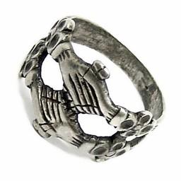 Średniowieczny pierścień sprzęgający, posrebrzane